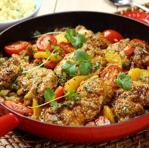 Kurczak po meksykańsku cajun z kaszą jaglaną [rewelacyjny szybki obiad]