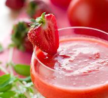 Chłodnik z pomidorów i truskawek
